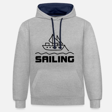 Voiles Yacht Voile Voile Voile - Sweat-shirt contraste