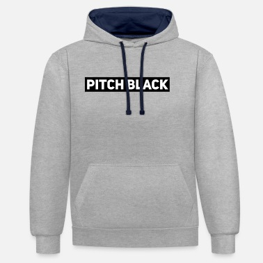 Pitch Pitch Black - Contrast Colour Hoodie