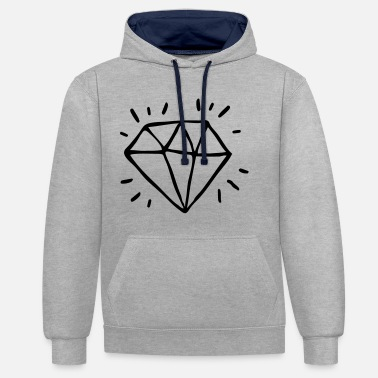 diamant - Sweat-shirt contraste