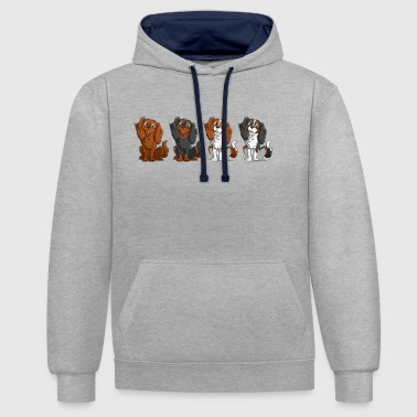 Cavalier King Charles - Ligne - Sweat-shirt contraste