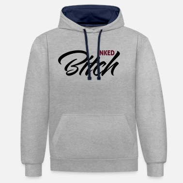Ink Inked Bitch - Contrast Colour Hoodie