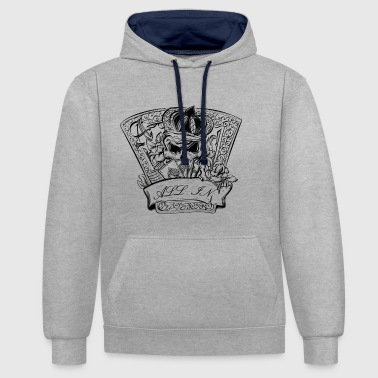 Poker Game with Death - Kontrast-Hoodie