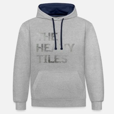 Heavy The heavy Tiles Heavy logo - Contrast Colour Hoodie