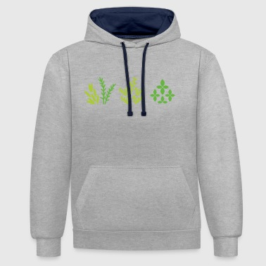 Plant Grounds plants - Contrast Colour Hoodie