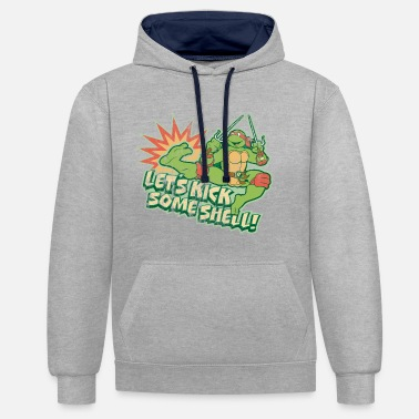 TMNT Turtles Raphael Let's Kick Some Shell - Unisex Contrast Hoodie