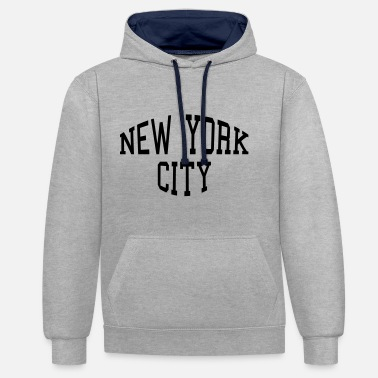 City New York City lettering - Contrast Colour Hoodie
