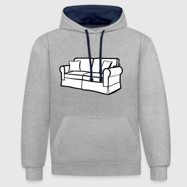 Couch Couch - Kontrast-Hoodie