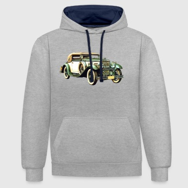 Vintage Car Old Car / Vintage Car / Vintage Car Gift - Contrast Colour Hoodie