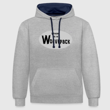 Wolf Pack Wolf pack - Contrast Colour Hoodie