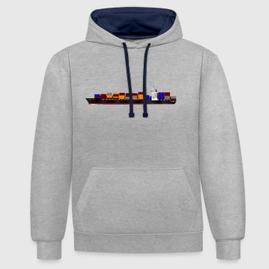 Container Container Ship - Kontrast-Hoodie