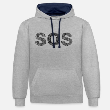 Sos SOS - Sweat-shirt contraste