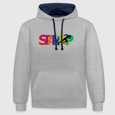 Startup - Contrast Colour Hoodie