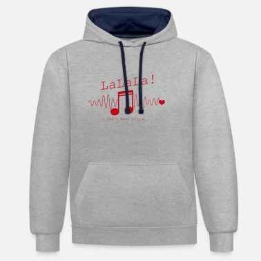 Music Note Musical Notes Music Lover - Contrast Colour Hoodie