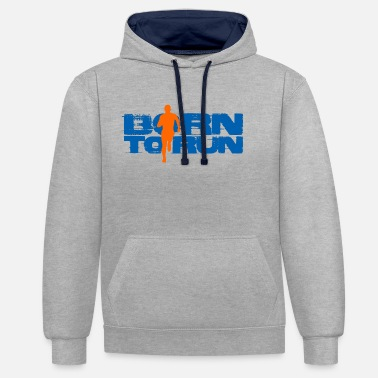 Coureur fonctionnement - Sweat-shirt contraste