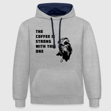 coffee chewbacca strong dark dark side - Contrast Colour Hoodie