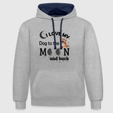 I love my dog Black - Contrast Colour Hoodie