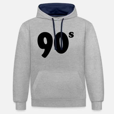 90s 90s - Contrast Colour Hoodie