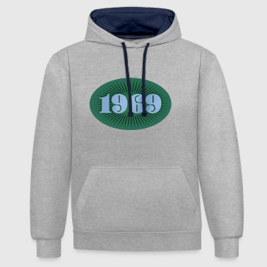 1969 year of birth - Contrast Colour Hoodie