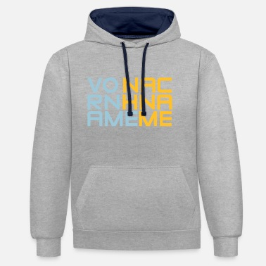 First Name first name Last Name - Contrast Colour Hoodie