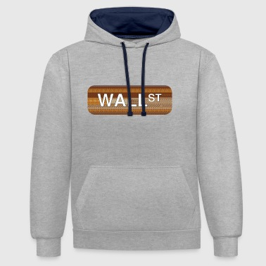 Wall Street - Sweat-shirt contraste
