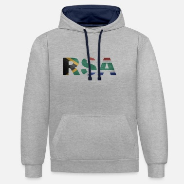 South Africa RSA Republic of South Africa South Africa Africa - Contrast Colour Hoodie