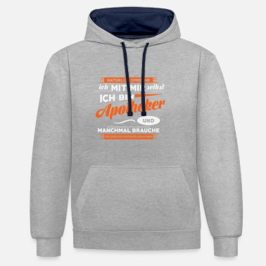 Pharmacy Funny Pharmacist Shirt, Pharmacy, Gift, Profession - Contrast Colour Hoodie