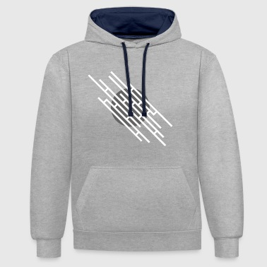 Lignes diagonales - Sweat-shirt contraste