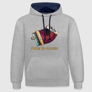 Accordion - Contrast Colour Hoodie