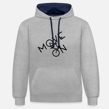 On Tour Bicycle Bike Tour Driving Tour - Contrast Colour Hoodie