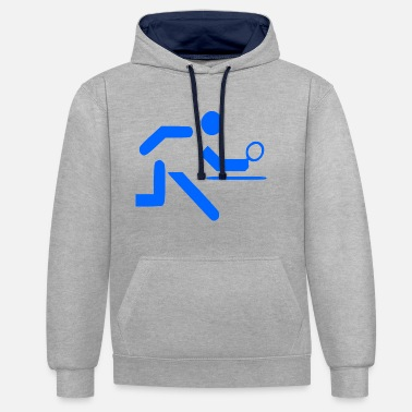 Table Tennis Table tennis table tennis player gift - Contrast Colour Hoodie