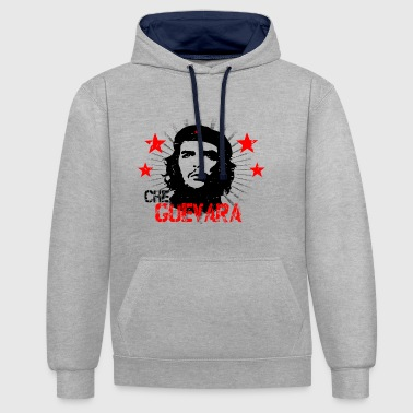 Che Guevara Distressed - Contrast Colour Hoodie