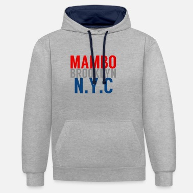 Nyc Mambo Brooklyn NYC - Salsa Dance Shirt - Contrast Colour Hoodie