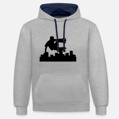 Freerunning Freerunning, free running, free runner - Contrast Colour Hoodie