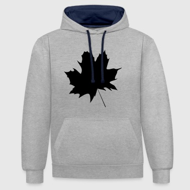 Maple leaf - Contrast Colour Hoodie