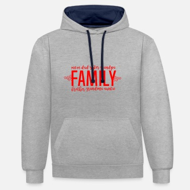 Famille Famille - Famille Amour - Sweat-shirt contraste