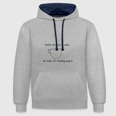 Cup of Care - Contrast Colour Hoodie