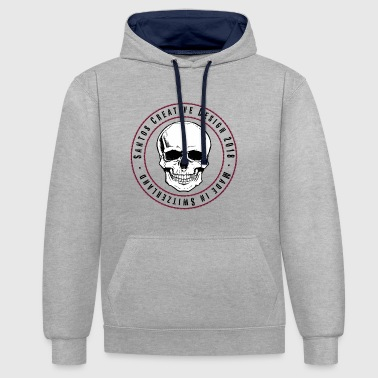 scull - Contrast Colour Hoodie