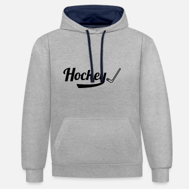 Bâton hockey - Sweat-shirt contraste