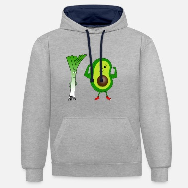 Leek and avocado - Contrast Colour Hoodie