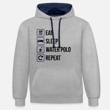 Waterpolo Eat Sleep Water Polo Repeat - Contrast Colour Hoodie