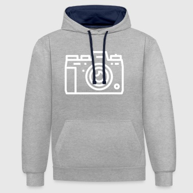 Camera Photo Picture Digital Camera Gift white - Contrast Colour Hoodie
