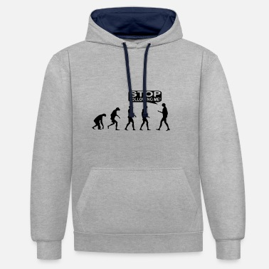 Me Evolution, monkey, life, gift idea - Contrast Colour Hoodie