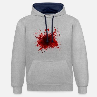 Bloodstains Halloween shirt bloodstain - Contrast Colour Hoodie