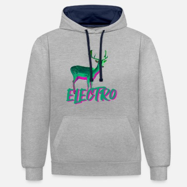 Electro electro - Contrast Colour Hoodie
