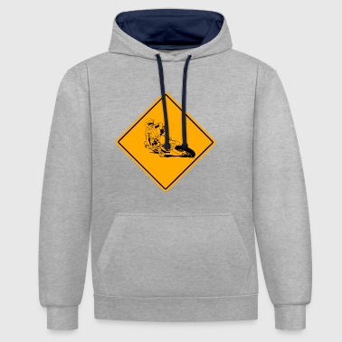 Supermoto Road Sign - Sweat-shirt contraste