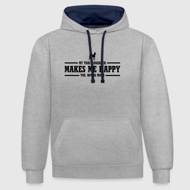 THAI RIDGEBACK makes me happy - Contrast Colour Hoodie