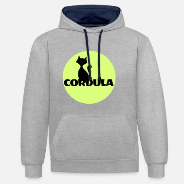 First Name Cordula Name First name - Contrast Colour Hoodie