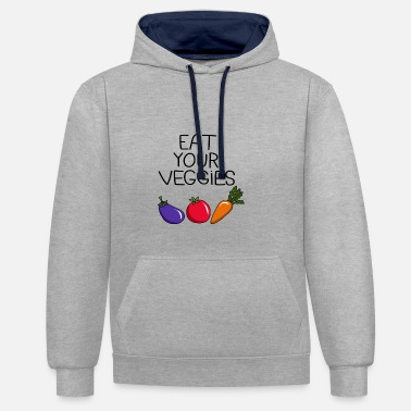 Eat your Veggies - Sweat-shirt contraste