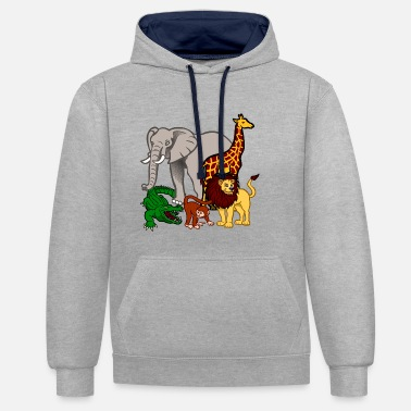 Animaux animaux - Sweat-shirt contraste
