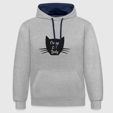 Crazy Cat Lady - Contrast Colour Hoodie